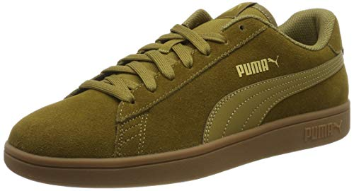 Puma Puma Smash v2, Unisex-Erwachsene Sneakers, Grün (Moss Green-Puma Team Gold-Gum 33), 42 EU