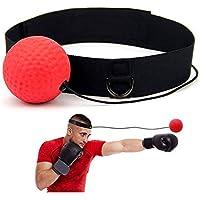 Ndier Boxe Reflex Boule pour la Boxe MMA et Main-Oeil Muay Thai Coordination Boxe Balle améliore Votre Combat de Remise Temps de réaction/Précision 1 Set Produits/Accessoires pour Sport