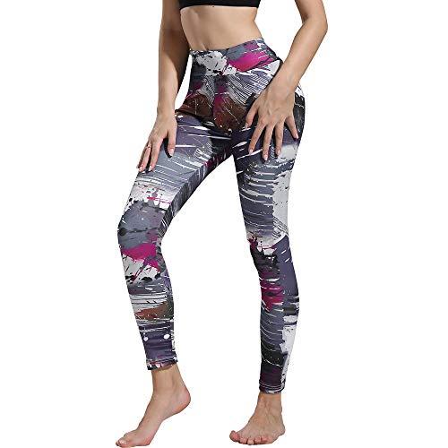 MEIbax Leggings Deportes Pantalones Mujeres Moda Estampado
