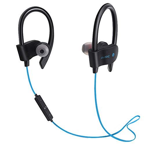Yowablo Bluetooth Kopfhörer, Bluetooth 5.0 Sport Kopfhörer mit Drahtlose Bluetooth Headset Kopfhörer Sport Sweatproof Stereo-Ohrhörer Kopfhörer, für iPhone, Samsung usw ( Blau )