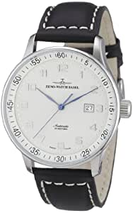 Zeno Watch Basel Men's Automatic Watch X-Large Pilot P554-e2 with Leather Strap