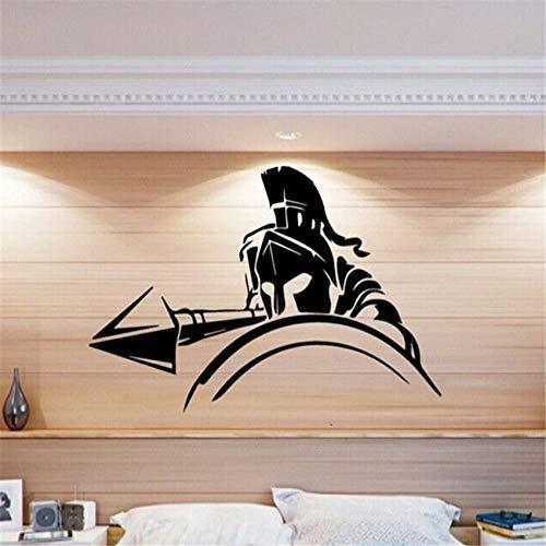 hllhpc Griechisch Spartan Warrior Pike War Wandtattoo Wandaufkleber Home Art Deco Vinyl Kindergarten Kinderzimmer Wandaufkleber 58 * 40cm