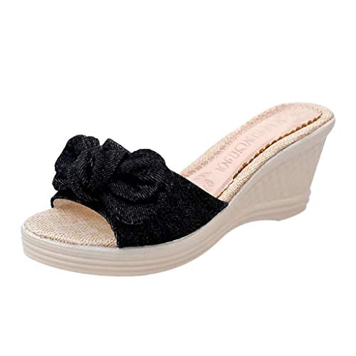 LANSKRLSP Pantofole Donna estive Elegant Ciabatte Donna estive da casa Mare Sandali Estivi Donna Mare Bassi Elegant Estivi - Donna Bow Estate Sandali Pantofola Coperta Spiaggia Scarpe