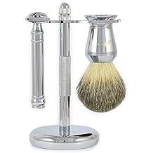 Duellist Cuchilla De Afeitar Cepillo Y Soporte Set De Afeitado - Cuchillas No Incluido