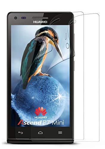 moex 2X Huawei P7 Mini | Schutzfolie Klar Bildschirm Schutz [Crystal-Clear] Screen Protector Display Handy-Folie Dünn Bildschirmschutz-Folie für Huawei P7 Mini Bildschirmfolie