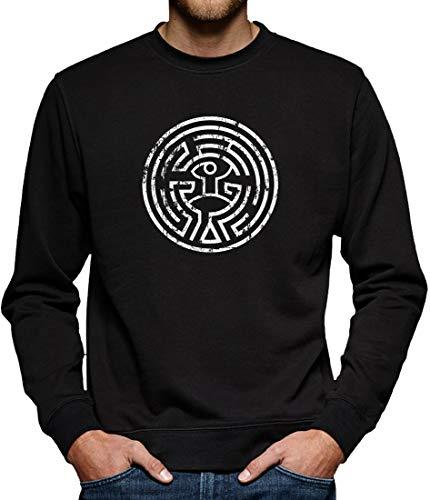 Westworld Maze Sweatshirt Pullover Herren XXXL Schwarz