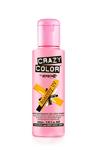 Crazy Color Semi-Permanent Hair Dye Renbow 4 x Anarchy UV 100ml .SHIPPING TO EUROPEAN COUNTRIES
