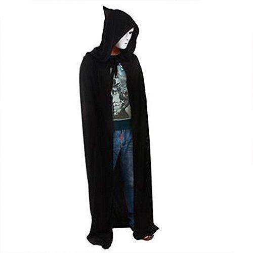Vin beauty Hotsale Kapuze Mantel Halloween Party Kostüme Erwachsene Tod Reaper Dämon Vampir Kleidung (Halloween Kostüm Pfadfinder)