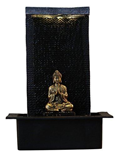 Zen'Light Fontaine Zenitude, Polyrésine, Noir, 31 x 31 x 42 cm