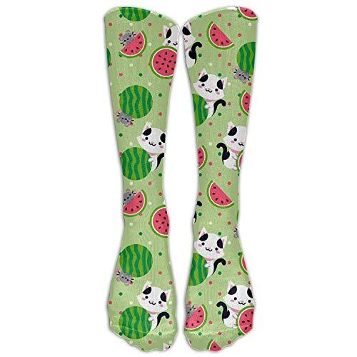 e Watermelon Unisex Knee High Socks Fashion 3D Print Winter Long Sports Stockings Football Sock ()