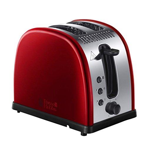 Russell Hobbs 21291-56 Toaster Legacy Red, Schnell-Toast-Technologie, Brötchenaufsatz, 1300 Watt, rot