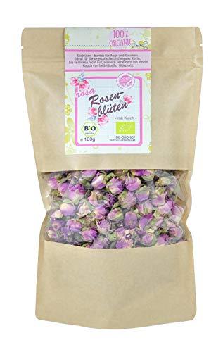 direct&friendly Bio Rosenblüten getrocknet Tee und Essblüten im Nachfüllpack (100 g)