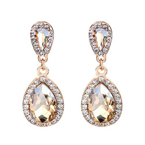 Mode Temperament Wassertropfen Form Diamant Ohrring Damen Ohrringe Schmuck (Mit Diamant Ring Karma)