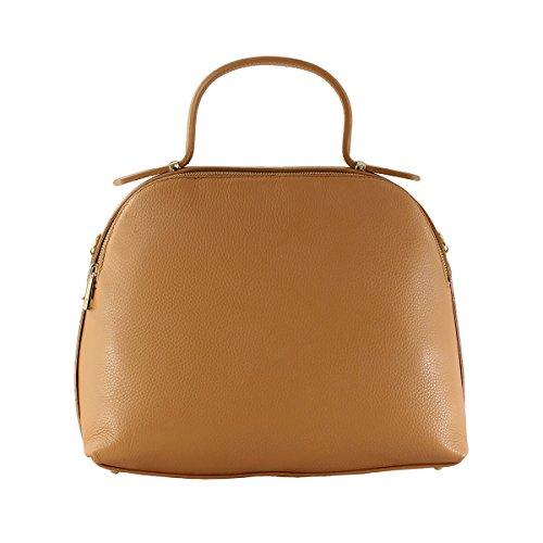 CTM sac à main pour femme avec ceinture d'epaule dans l'interieur, piel doux et veritable fait en Italie - 34x28x15 Cm