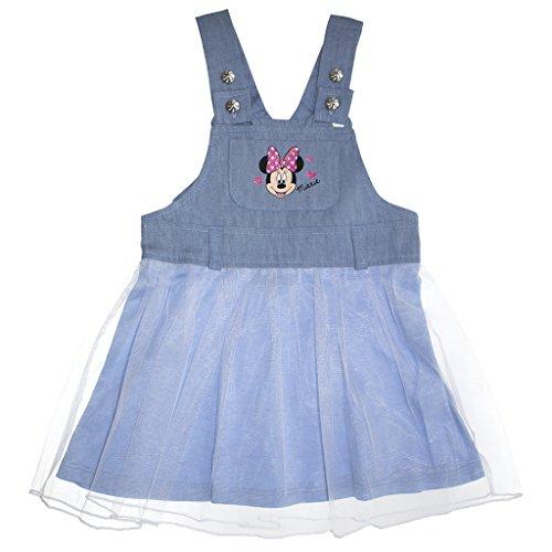 Mädchen- / Baby-Kleid in GRÖSSE 68, 74, 80, 86, 92, 98, leichtes Minnie Mouse JEANS-KLEID mit Tüll ÄRMELLOS, ideales Strand-Kleid, Freizeit-Kleid oder SOMMER-KLEID, Jeans-Rock Size (Mouse Muster Und Kostüm Mickey Minnie)