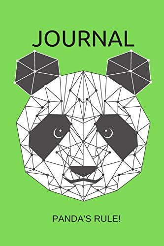 Journal Panda's Rule!: Lined, Undated; Panda Bear Green Cover -