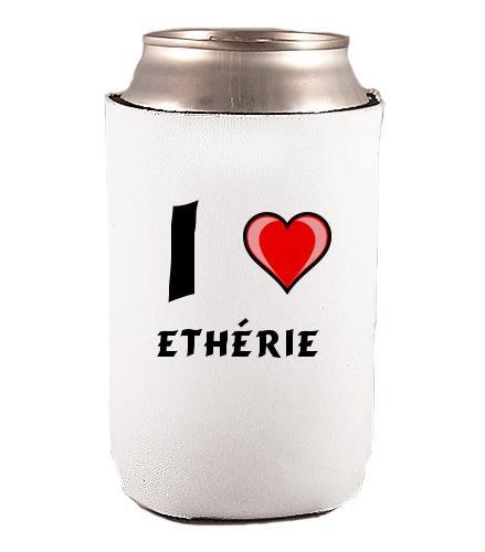 Couverture de bouteilles personnalisée en néoprène avec J'aime - Ethérie inscription (Noms/Prénoms)