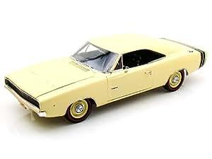 Dodge Charger R/T, clair-beige , 1968, voiture miniature, Miniature déjà montée, ERTL American Muscle 1:18