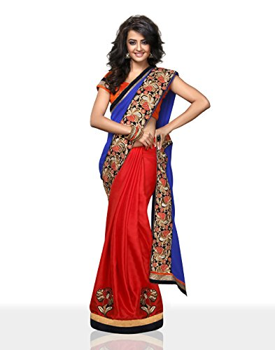 Chirag Sarees Synthetic Saree (4405_Red)