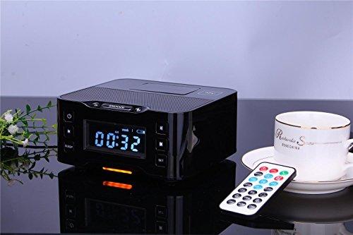 Android-home-dock (Lightning Dock Wecker Radio mit USB Laden / Spielen für iPhone 5 / 5S & 6 / 6Plus-Anschluss (schwarz),OOLIFENG)
