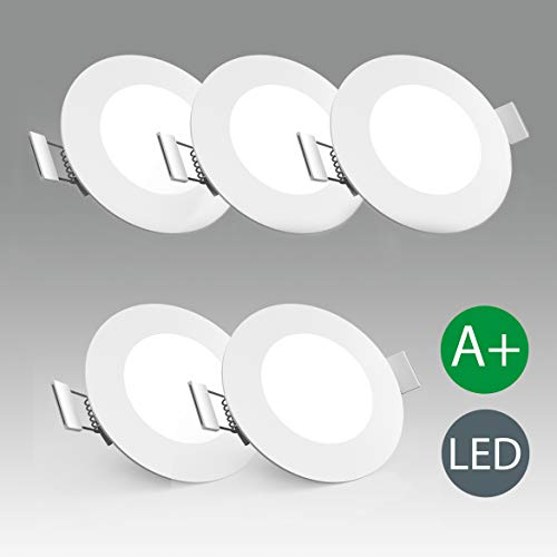 Lámpara de techo I Foco LED empotrable y plano I Kit de...