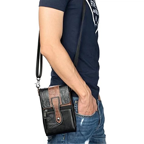 Premium PU-Leder-Handyhülle Universal Schulter Rucksäcke Gürteltasche ( Color : C ) A
