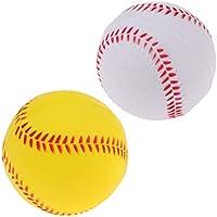 IPOTCH Pack de 2 Bolas de Sóftbol 7cm de PU de Calidad, Pelotas Útiles Seguras para Práctica Entrenamiento de Béisbol para Niños
