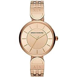Armani Exchange Reloj Analógico para Mujer de Cuarzo con Correa en Acero Inoxidable AX5328