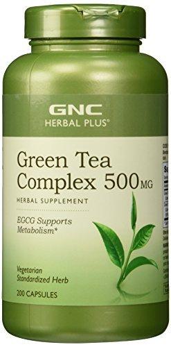 GNC Herbal Plus Standardized Green Tea Complex 500 mg 200 Vegetarian Capsules by GNC Herbal Plus