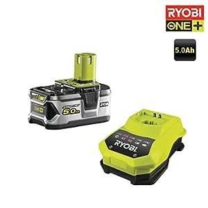 Ryobi Batterie rbc18l5018V et chargeur, 1pièce, noir, vert, 5133002601