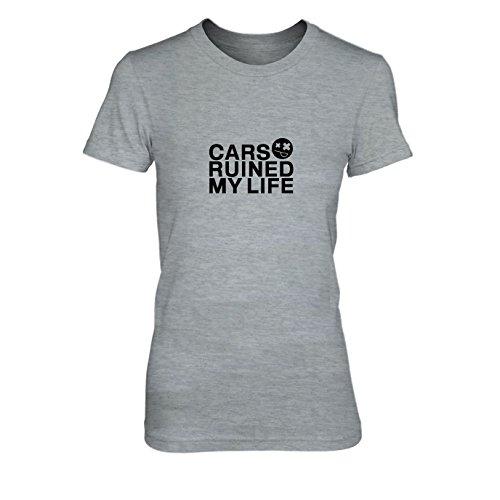 Cars ruined my Life - Damen T-Shirt Grau Meliert