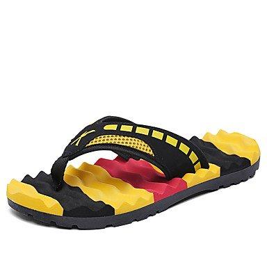 Slippers & amp da uomo;Primavera Estate laccio dietro Comfort Light Suole PU casual Heel Flat Blue Yel sandali US8.5-9 / EU41 / UK7.5-8 / CN42