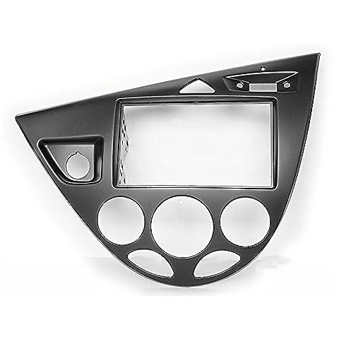 CARAV 11–548Double DIN Radio stéréo adaptateur DVD Dash entourée d'installation/Kit de roue pour Ford Focus modèles 1998–2004(gauche/Noir) Façade d'autoradio/Façade d'autoradio avec 173* * * * * * * * 98mm et 178* * * * * * * * 102mm