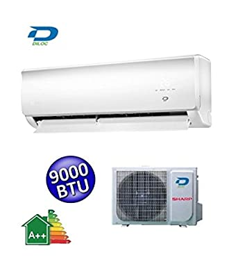 Diloc Air conditioner 9000 Btu - Inverter Wi-Fi Heating Cooling - D.WALL.IN9W + D.WALL.OUT109W Sharp Compressor