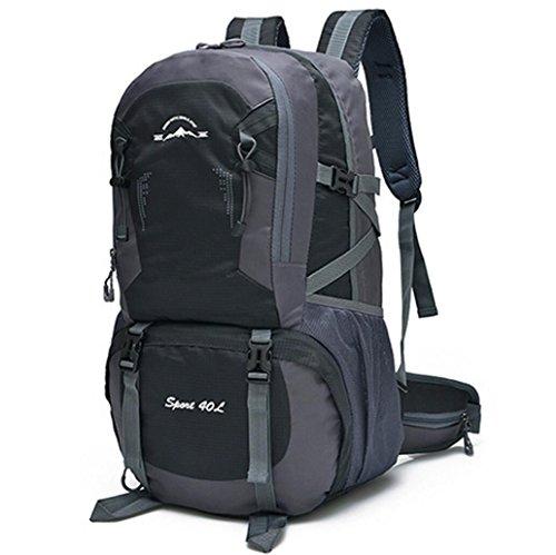 LQABW Outdoor-Schulter-Climbing-Reisen Männer Und Frauen Sport Und Freizeit Paket-wasserdicht Computer-Studenten-Tasche Black