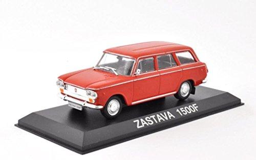 DieCast Metall Miniaturmodell Modellauto 1:43 Oldtimer Klassiker Polnischer Zastava 1500 F rot PKW DeAgostini