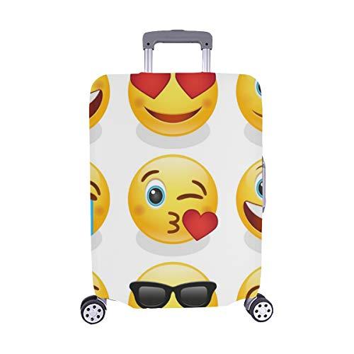 (Nur abdecken) Emoji Smiley Vector Design Kunst Muster Staubschutz Trolley Protector case Reisegepäck Beschützer Koffer Cover 28,5 X 20,5 Zoll