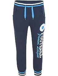 Niños Fútbol Imprimé Bas–Chándal Niño Niña Polar Pantalón Jogging Azul azul marino Talla:9-10 Ans
