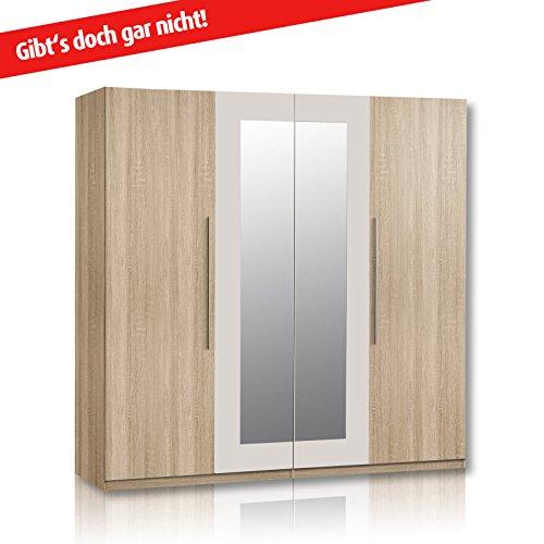 ROLLER Kleiderschrank HELEN – Eiche Sonoma – Spiegel – 228 cm