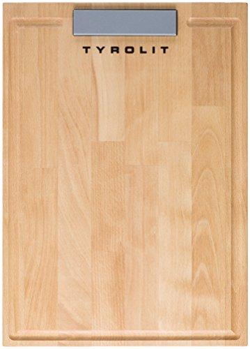 Tyrolit Buche mit Schärfstein Schneidbrett, Holz, braun 35 x 23 cm