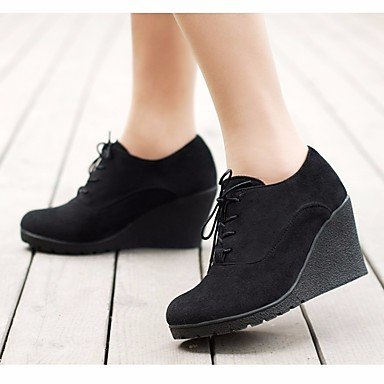 Rtry Zapatos De Mujer Pu Otoño Invierno Moda Botas Liane Boots Botines De Punta Redonda / Botines Ropa Casual Negro Azul Verde Us6.5-7 / Eu37 / Uk4.5-5 / Cn37