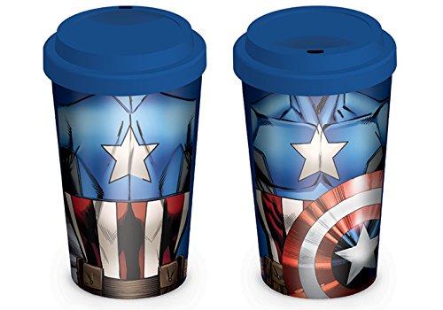 Captain America Torso Marvel Comics Avengers Travel Coffee Gift Mug Cup Official