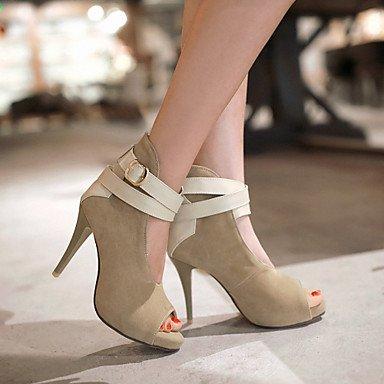 CH&TOU Scarpe Donna - Sandali - Tempo libero / Formale / Casual - Tacchi / Spuntate - A stiletto - Finta pelle - Nero / Verde / Rosso / Beige beige
