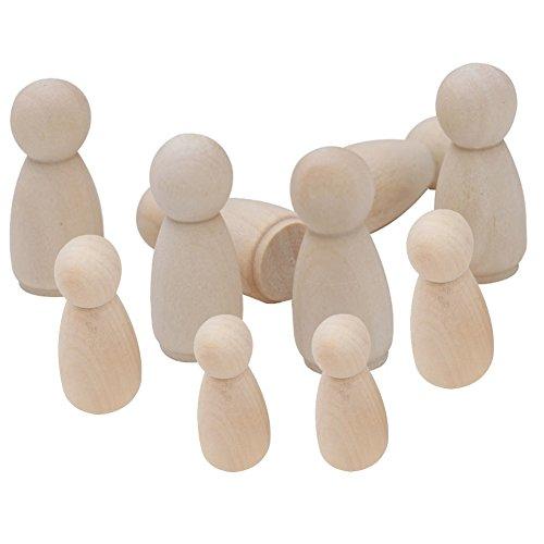 DIY Holz Puppe Bodies dekorativer Holz Hand Made Handpuppe Log Farbe Klein Man Graffiti Produkt Menschen Mitglied Familie Formen Kunst und Handwerk Peg blanko Puppen Hochzeit Party Decor Classic