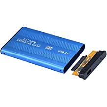 carcasa para SATA Discos duros externos baratos pequeños USB 3.0 Sannysis External Hard Drives discos duros portatiles multimedia Caja para Windows 7/8/98/ME/2000/XP or Mac OS (Azul)