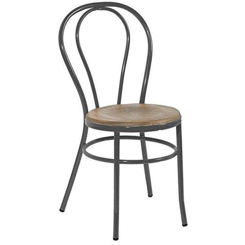 Indhouse–sedia thonet decorazione vintage in metallo e legno