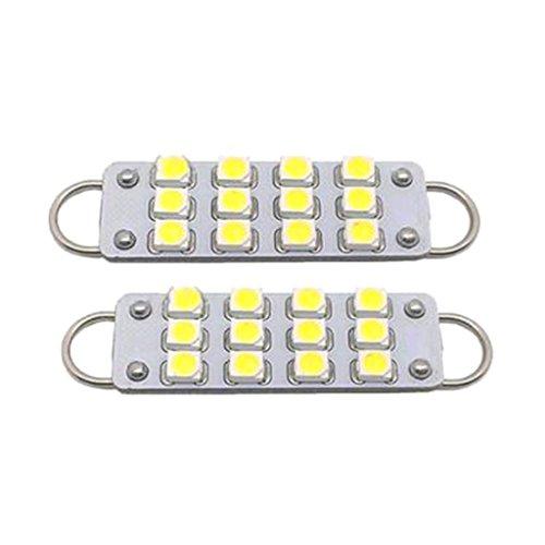 Glühlampen-schiene Leuchte (Sharplace 2 Stück 43mm 211-2 212-2 214-2 578 12-SMD-3528 Rigid Loop Weiß Soffitte Lampe Licht LED Innenraum)