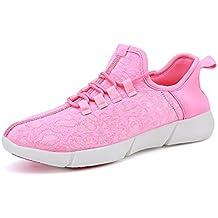 Unisex - Erwachsene Herbst Winter Sneaker Sport Outdoorschuhe Turnschuhe Laufschuhe Freizeitschuhe ( Vier Farben ) (40, Rosa)