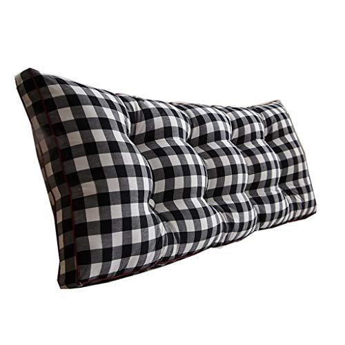 KLEDDP Appui-tête De Lit Coussin Triangle Confortable en Coton Élastique Coussin (Color : Black, Size : 120 * 50 * 20cm)