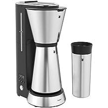 WMF Küchenminis Aroma Filterkaffeemaschine (mit Isolierkanne (750 ml) und Thermobecher to go (350 ml), 24 Stunden-Timer, kompaktes, platzsparendes Design, Cromargan)